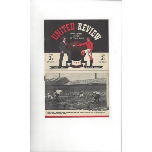 1948/49 Manchester United v Arsenal Football Programme