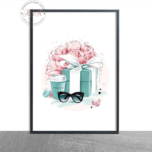 Fashion Blue Gift Box