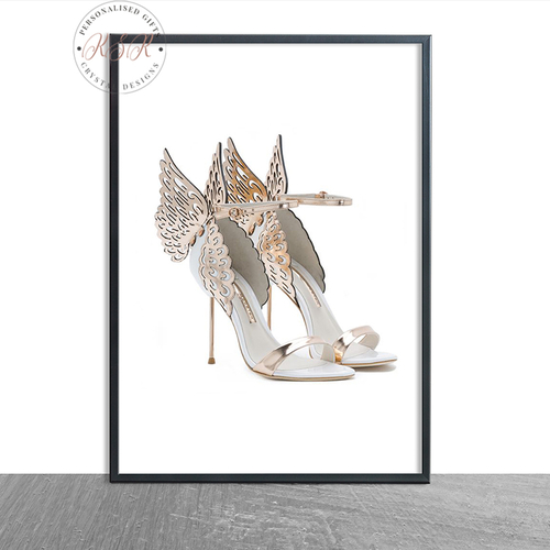 Fashion Gold Winged Shoe