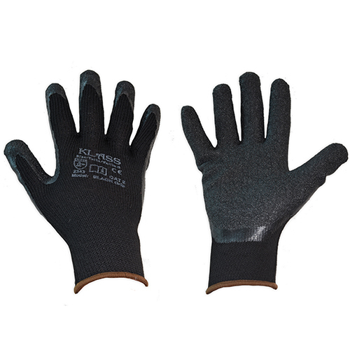 Klass Black Grip Glove - Conforms to EN420 & EN388 (2243)