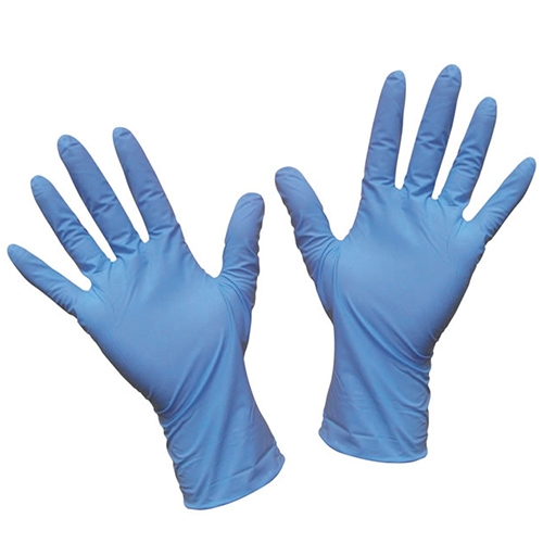 Blue nitrile disposable gloves  - food safe