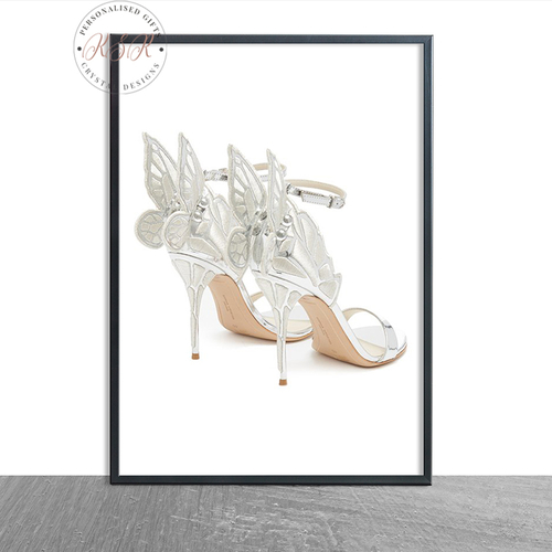 Silver Butterfly Shoes