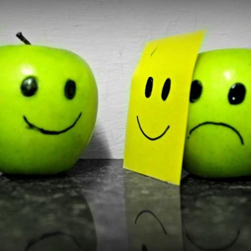 happy and depressed