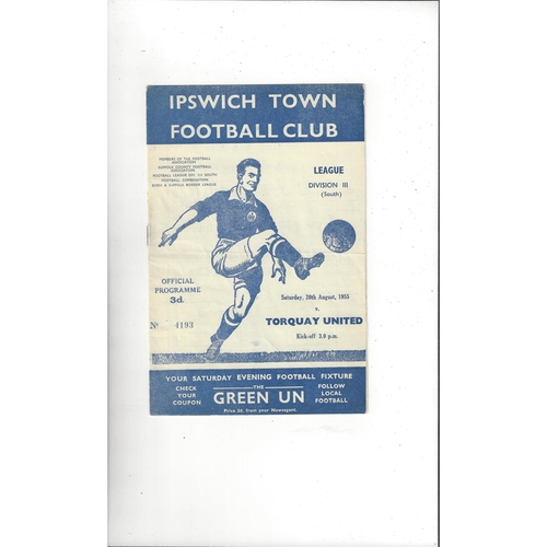 Ipswich Town Home Football Programmes