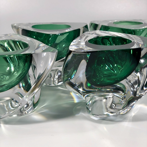 Set of Val Saint Lambert crystal candle holders