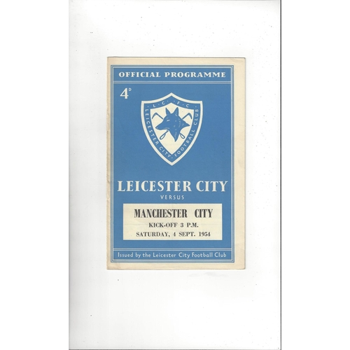 1954/55 Leicester City v Manchester City Football Programme