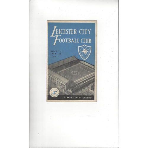 1955/56 Leicester City v Port Vale Football Programme