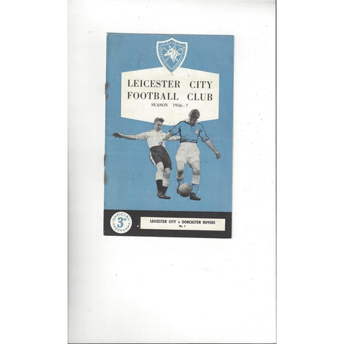 1956/57 Leicester City v Doncaster Rovers Football Programme