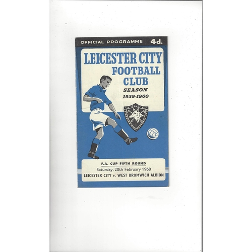 1959/60 Leicester City v West Bromwich Albion FA Cup Football Programme