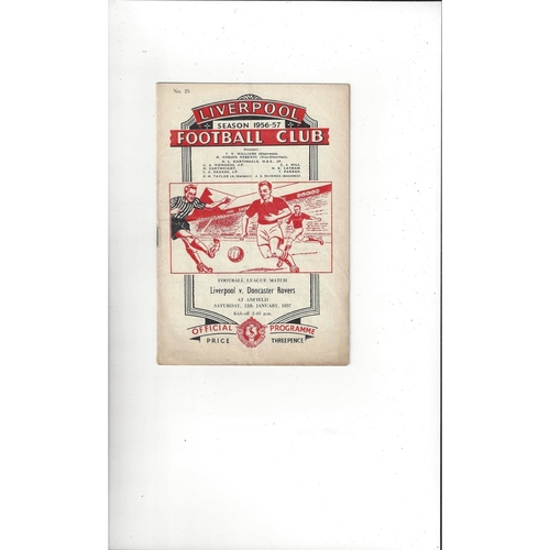 1956/57 Liverpool v Doncaster Rovers Football Programme