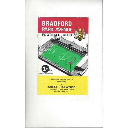 1970/71 Bradford Park Avenue v Great Harwood Football Programme
