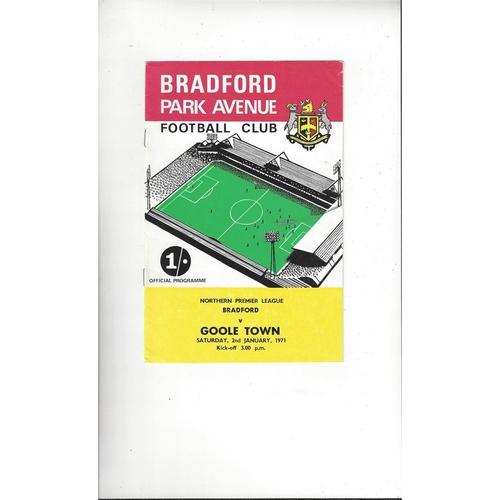 1970/71 Bradford Park Avenue v Goole Town Football Programme