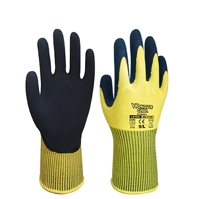 Wondergrip Hi Viz Yellow Gloves - EN388 2131
