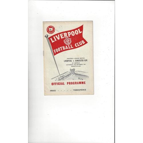 1957/58 Liverpool v Doncaster Rovers Football Programme