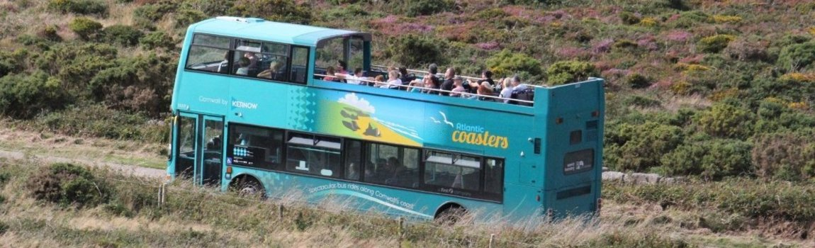 Open Air Bus From Pendeen To St Ives  Cornwall
