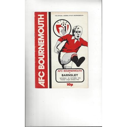 1975/76 Bournemouth v Barnsley Football Programme