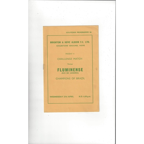 Brighton v Fluminense Friendly Football Programme 1959/60
