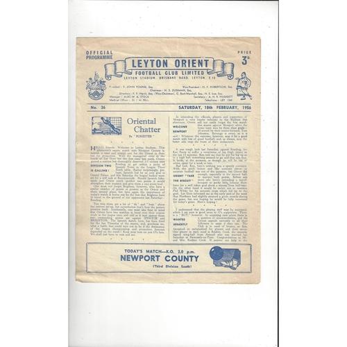 Leyton Orient Home Football Programmes