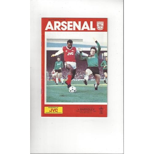 1986/87 Arsenal v Barnsley FA Cup Football Programme