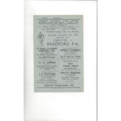 1957/58 Chester v Bradford Park Avenue Football Programme
