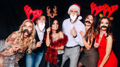 Christmas Photo Booth, Christmas Party, Christmas Props
