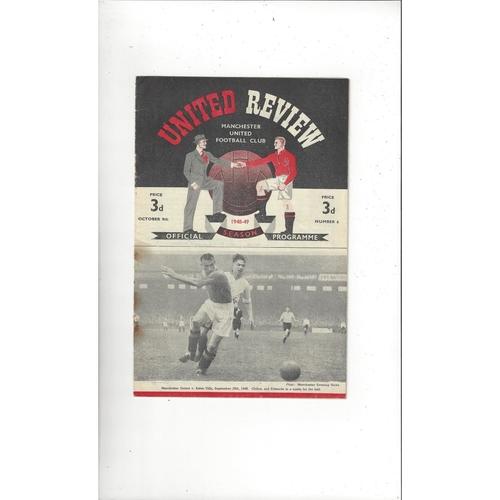 1948/49 Manchester United v Charlton Athletic Football Programme