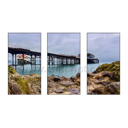 Mumbles Pier Panoramic Split x 3