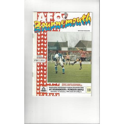 Plymouth Argyle Away Football Programmes