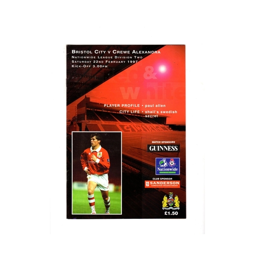 Bristol City Home Football Programmes