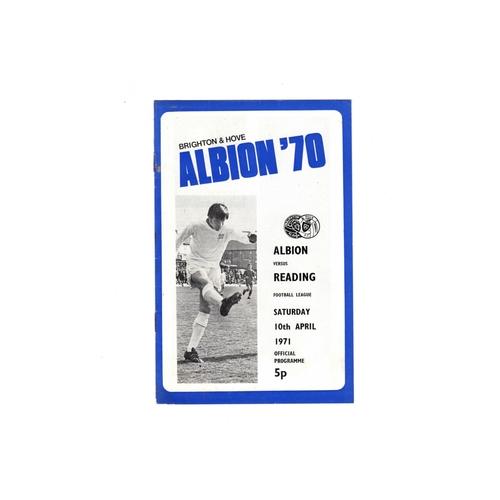 1970/71 Brighton v Reading Football Programme
