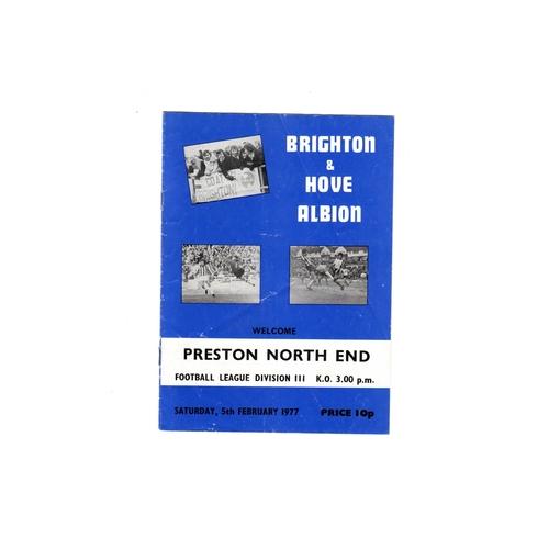 Preston North End Away Football Programmes