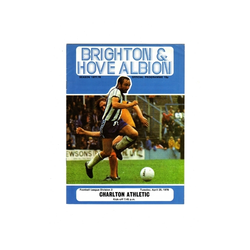 Brighton & Hove Albion Home Football Programmes