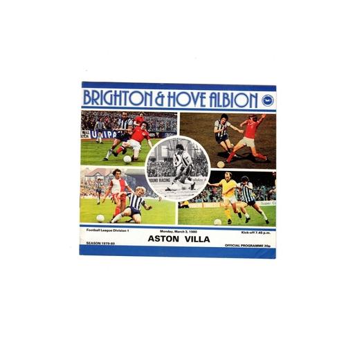 Aston Villa Away Football Programmes