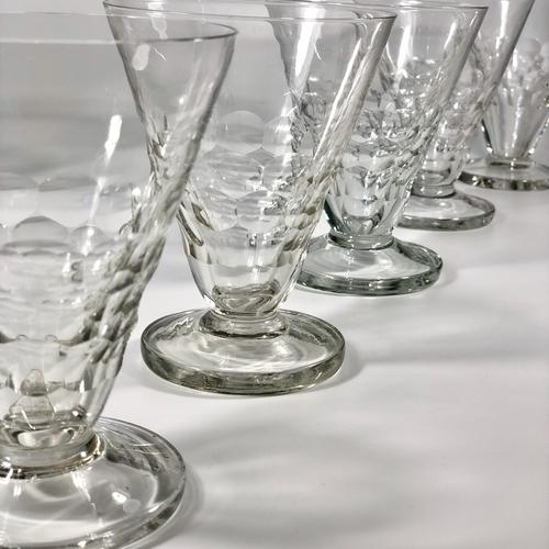 8 Art Deco French bistro glasses