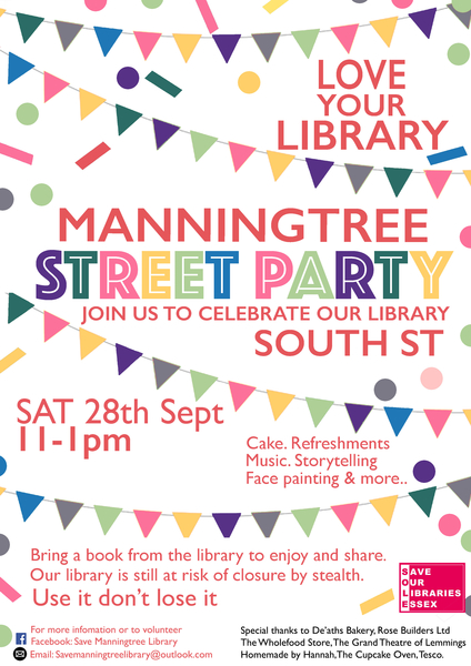 LOVE YOUR LIBRARY - MANNINGTREE STREET PARTY