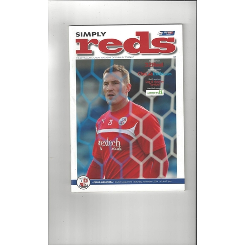 Crawley Town Home Football Programmes