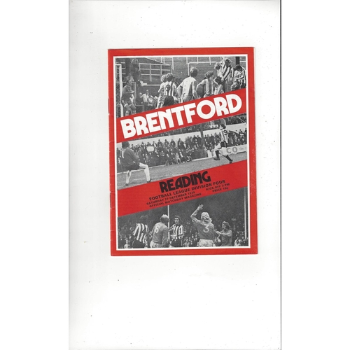 1975/76 Brentford v Reading Football Programme