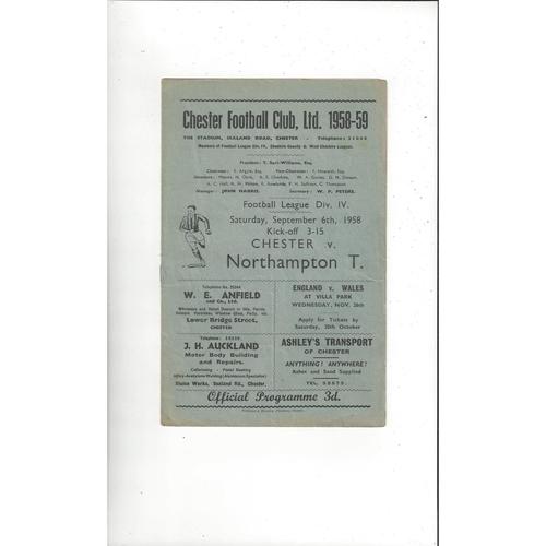 Northampton Town Away Football Programmes
