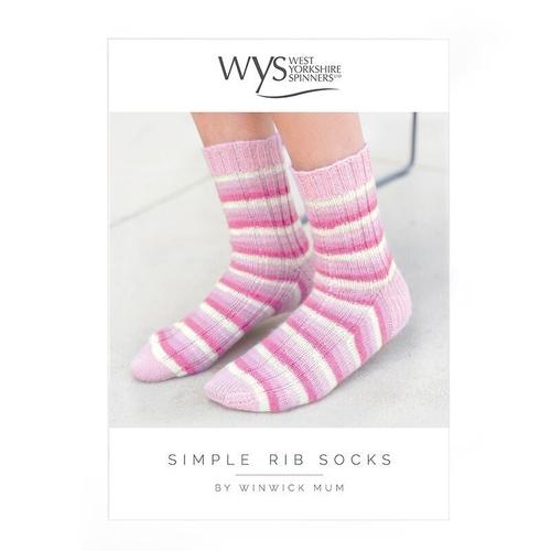 Simple Rib Sock Pattern