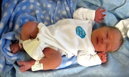 New born baby photo to canvas.