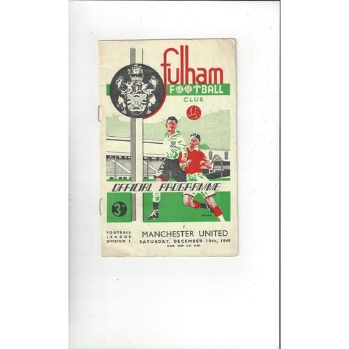 1949/50 Fulham v Manchester United Football Programme