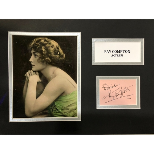 A Fay Compton Hand Signed Autograph