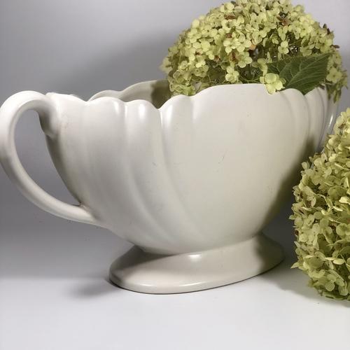 Giant Art Deco White Mantle vases
