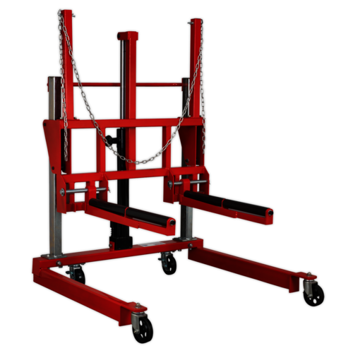 Wheel Removal Trolley 500kg Adjustable Width - Sealey - W508T