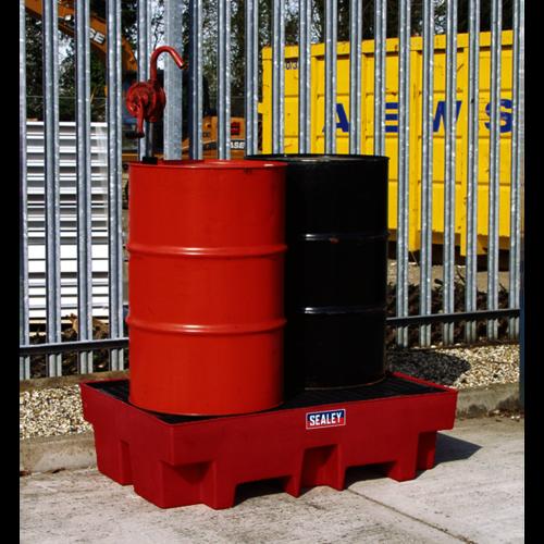 Barrel Bund Polyethylene 1220 x 820 x 330mm - Sealey - DRP12