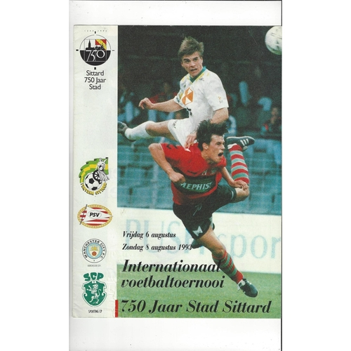 Sittard International Football Tournament Programme 1993 Manchester City, PSV,