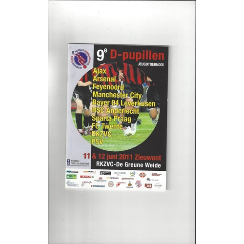 Wessels Football Tournament Programme 2011 Manchester City, Arsenal, Ajax,