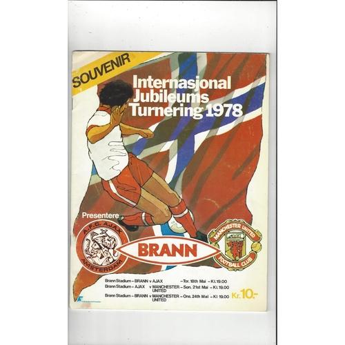 Brann v Manchester United & Ajax Football Tournament Programme 1978