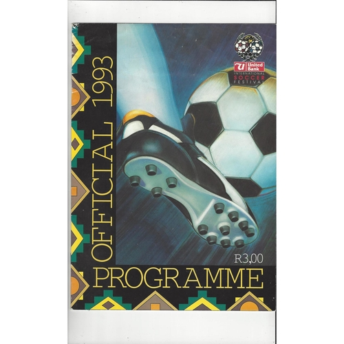 Arsenal v Manchester United Friendly Tour of South Africa Football Programme 1993/94