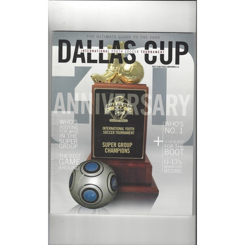 Dallas Cup Youth Tournament Football Programme 2009 Manchester City & AC Milan